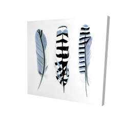 Canvas 24 x 24 - 3D - Delicate feathers