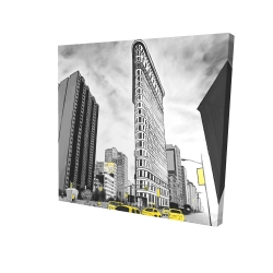 Canvas 24 x 24 - 3D - Outline of flatiron building to new-york