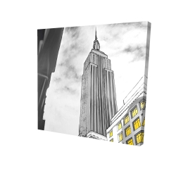 Canvas 24 x 24 - 3D - Outline of empire state building
