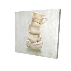 Canvas 24 x 24 - 3D - Coffee mugs