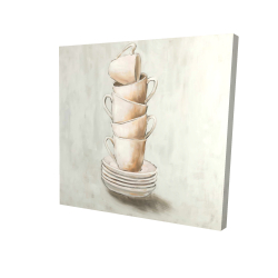 Canvas 24 x 24 - 3D - Stacked cups