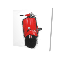 Canvas 24 x 24 - 3D - Red italian scooter
