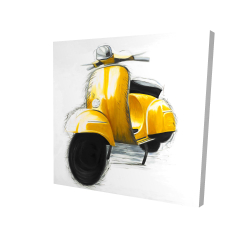 Canvas 24 x 24 - 3D - Yellow italian scooter
