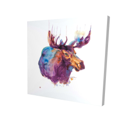 Canvas 24 x 24 - 3D - Abstract moose