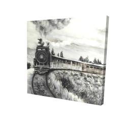 Canvas 24 x 24 - 3D - Steam engine train