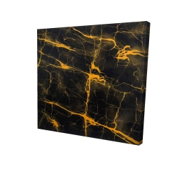 Canvas 24 x 24 - 3D - Black and gold marble texture