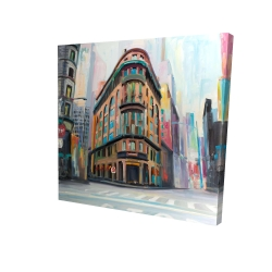 Canvas 24 x 24 - 3D - Building architecture in new-york