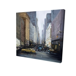 Canvas 24 x 24 - 3D - In the city