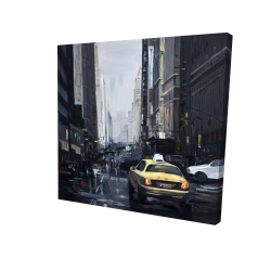 Canvas 24 x 24 - 3D - New york in the dark