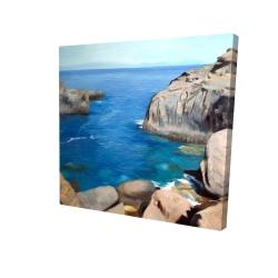 Canvas 24 x 24 - 3D - California coast