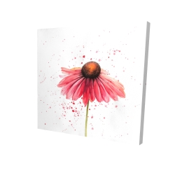 Canvas 24 x 24 - 3D - Pink daisy