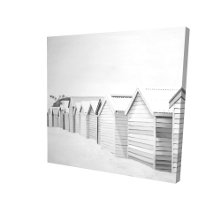 Canvas 36 x 36 - 3D - Beach cabins