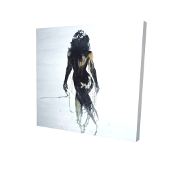 Canvas 24 x 24 - 3D - Abstract back view of a woman silhouette