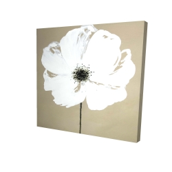 Canvas 24 x 24 - 3D - Abstract color splash flower