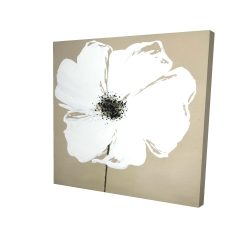 Canvas 24 x 24 - 3D - Abstract color splash petals flower