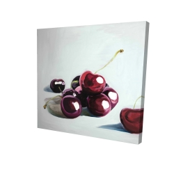 Canvas 24 x 24 - 3D - Glossy dark cherries