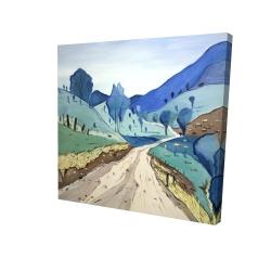 Canvas 24 x 24 - 3D - Tuscany trail