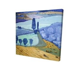Canvas 24 x 24 - 3D - Tuscany field