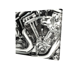 Canvas 24 x 24 - 3D - Mechanism of a motorcycle