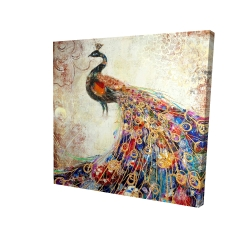 Canvas 48 x 48 - 3D - Majestic peacock
