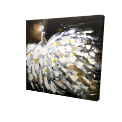 Canvas 24 x 24 - 3D - Abstract peacock