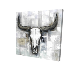 Canvas 48 x 48 - 3D - Bull skull on an industrial background