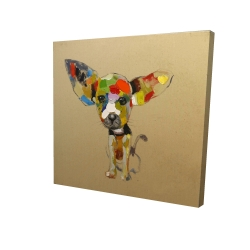 Canvas 24 x 24 - 3D - Abstract colorful chihuahua
