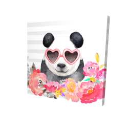 Panda with heart-shaped glasses