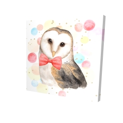 Canvas 24 x 24 - 3D - Chic owl