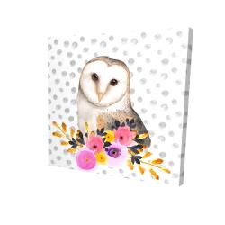 Canvas 24 x 24 - 3D - Beautiful owl