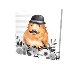 Canvas 24 x 24 - 3D - Guinea pig detective