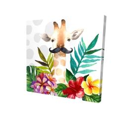 Canvas 24 x 24 - 3D - Exotic giraffe