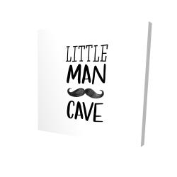 Canvas 24 x 24 - 3D - Little man cave