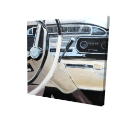 Canvas 24 x 24 - 3D - 1950s car dashboard