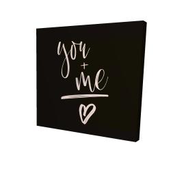 Canvas 24 x 24 - 3D - You + me