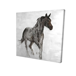 Canvas 24 x 24 - 3D - Abstract brown horse