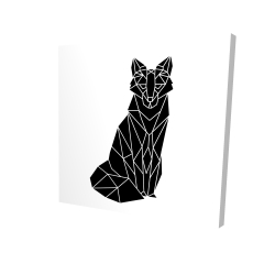 Canvas 24 x 24 - 3D - Geometric fox