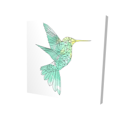 Canvas 24 x 24 - 3D - Geometric hummingbird