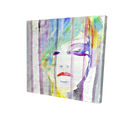 Canvas 24 x 24 - 3D - Abstract colorful portrait