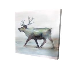 Canvas 24 x 24 - 3D - Caribou