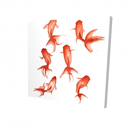 Small red fishes