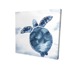 Canvas 24 x 24 - 3D - Blue turtle
