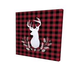 Canvas 24 x 24 - 3D - Deer plaid