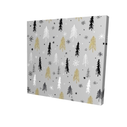 Canvas 24 x 24 - 3D - Christmas tree pattern