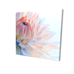 Canvas 24 x 24 - 3D - Lotus pastel flower