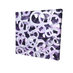 Abstract purple circles