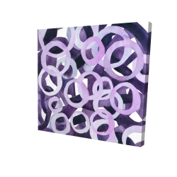 Abstract purple rings
