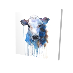 Canvas 24 x 24 - 3D - Watercolor jersey cow