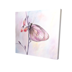 Canvas 24 x 24 - 3D - Delicate butterfly