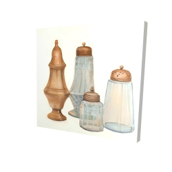 Canvas 24 x 24 - 3D - Antique salt and pepper shaker